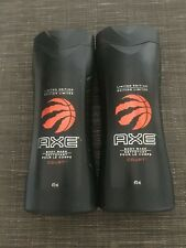 2 x Axe Men's Body Wash Discontinued Toronto Raptors Basketball 16 oz 473 ml Lot