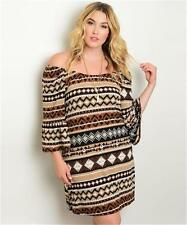 NEW..Stylish Sassy Gorgeous Boho Plus Size Off The Shoulder Dress..Sz16/1XL