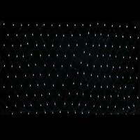 1.8 x 1.2 m Chasing/ Static Curtain Net Christmas Lights with 180 LEDs, White