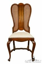 High End English Revival Queen Anne Cane Back Dining Side Chair