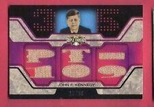 JOHN F KENNEDY JFK WORN RELIC CARD 2008 TRIPLE THREADS WWII PT-109 PRESIDENT USA