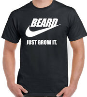 BEARD T-SHIRT Mens Funny Just Grow it Tee Top Biker Motorbike Motorcycle Tattoo