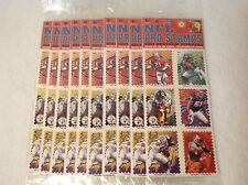 "NFL PRO STAMPS 1995 SERIES 3 NEW SEALED Stickers 9 Packages 108 Stickers 2""X1.5"""