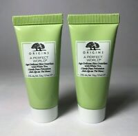 Lot 2 Origins A Perfect World Skin Guardian Moisturizer White Tea 0.5 fl. oz.