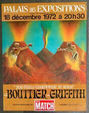 EMILE GRIFFITH-JEAN CLAUDE BOUTTIER ORIGINAL ON SITE POSTER (1972)