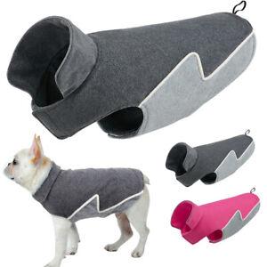 Windproof Winter Warm Fleece Dog Coat Jacket Reflective Soft Dog Vest Apparel