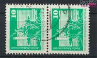 DDR 1868sP senkrechtes Paar Bedarfsstempel gestempelt 1974 Bauwerke (9187943