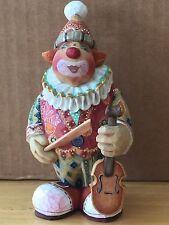 G. Debrekht FIDDLIN' FREDDY circus clown with violin, 2003 Ltd. Ed. NIB #58310-4