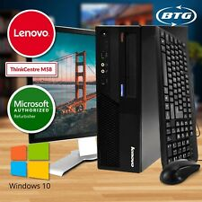 "Fast Lenovo Desktop Computer 8GB RAM 500GB HD Windows 10 PC 19"" LCD WiFi DVD-RW"