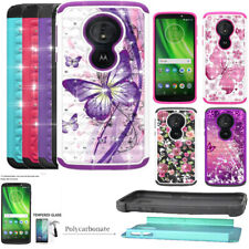 Phone Case For Tracfone Moto E5 (XT1920DL) / G6-Forge ShockProof Crystal Cover