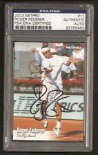 Roger Federer Tennis 2003 Netpro Card Signed Auto PSA/DNA