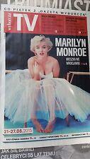 MARILYN MONROE WYBORCZA TV on front cover Polish Magazine