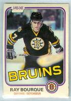 RAY BOURQUE 1981-82 O-Pee-Chee OPC '81 Hockey Card #1 VGEX NHL Boston Bruins e