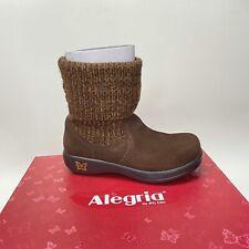 ALEGRIA Women's Sz 35 5 / 5.5  Juneau Choco Gold Brown Leather  Boots Jun-902