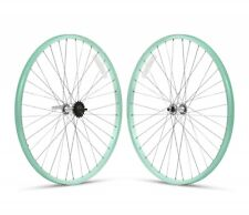 """Mint Green 26"""" x 1.75 Alloy Bicycle WheelSet Front /Rear Cruiser Lowrider Bikes"""