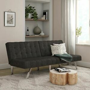 Mainstays Morgan Convertible Sofa Bed and Couch, Gray Linen