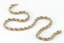 200 Grams Solid Rope Chain Iced Out with 3100 Diamonds Weighing 20 Carats Beauty