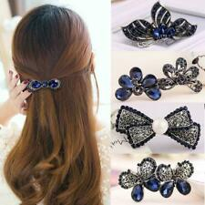 Fashion Women Butterfly Crystal Hair Clip Hairpin Barrette Accessories Gift c 01
