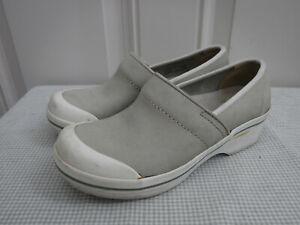 Women's DANSKO VOLLEY HOPSACK 5.5 6 36 Green Leather Clogs Slip Resistant Shoes