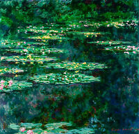 Monet 1904, Nympheas Waterlilies Canvas Print, Fade Resistant HD Print or Canvas
