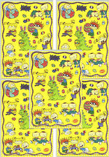 5 Sheets RUGRATS Easter Stickers!