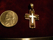 14k gold pendant cross 27x19mm  Greek brant name TRIANTOS stamped not scrap