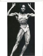 Female Bodybuilder Ms Olympia Carla Dunlap Bodybuilding Contest Photo B+W