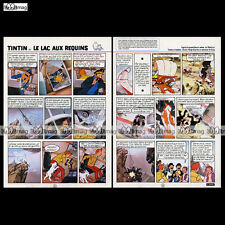 TINTIN 'Le lac aux requins' - Planches N°5 & 6 - HERGE Belvision - 1972 #681