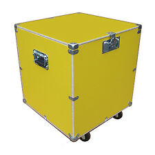 "Supply Trunk Case 1/2"" Ply Case Kit w/Bare Wood Edges - 24"" Cube - Yellow"