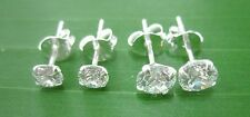 """2 PAIRS"" 925 STERLING SILVER 4mm & 5mm ROUND CZ CUBIC ZIRCONIA STUDS EARRINGS"
