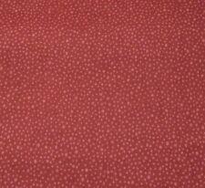 Ozark Calico BTY by Fabri-Quilt Light Red on Dark Barn Red Irregular Dots