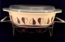 Golden Hearts Pyrex 045 2.5 QT Casserole Lidded Baking Dish Covered 1958 Cream