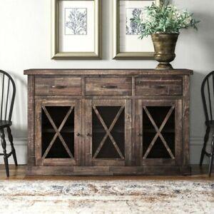 Alpine Furniture Newberry Salvaged Brown / Gray Sideboard