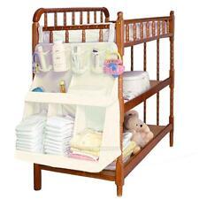 Waterproof Diaper Bottle Organizer Baby Cot Bed Hanging Bag Portable Storage Bag