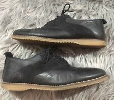 Men's Zara Man BLACK Suede Leather Shoes Oxfords 10 / 43