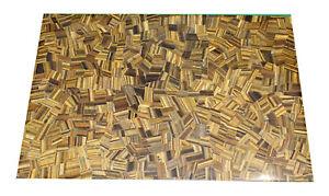 "48"" x 36"" Marble Table Top Tiger Eye Semi Precious Stones Handicraft Work"