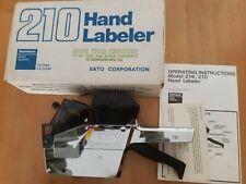 Dennison Sato 210 Price Label Gun Hand Chrome Color Labeler New in Box Retail
