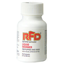 RFD Dog Puppies Roundworms Hookworms Pyrantel Pamoate Liquid Wormer  2 oz FDA
