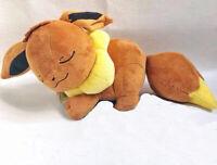 Japan Pokemon Center Sleeping Eevee Plush toy doll 35cm