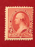 "US SCOTT Cat # 220A MNH OG ""Cap on Left 2 Variety"" 2c Stamp CV $450 FREE S&H"