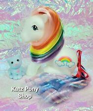 HQG1C Custom MLP Vintage G1 Style Pony with Kitty 🌈 PRETTYBOW & SKY 🌈 Cute!