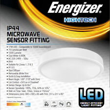 Motion Activated Energy Saving LED Bathroom Ceiling Light Fitting Microwave PIR