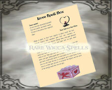 Love Spell Box Wicca Pagan Book of Shadows Parchment page