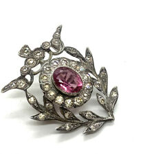 Antique Victorian Sterling Silver and Paste Brooch #29