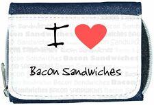 I Love Heart Bacon Sandwiches Denim Wallet