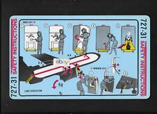 TWA TRANS WORLD AIRLINES BOEING 727-31 SAFETY CARD 11/1987 LAMINATED