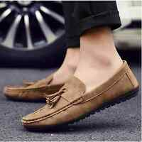 New Fashion England Men's Driving Moccasin Slip on Loafers Leather Casual Shoes