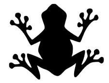 Frog silhouette vinyl car Decal / Sticker