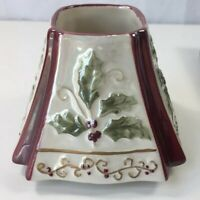 Yankee Candle Holly Cranberry Small Jar Candle Topper Lid Shade Holiday 1132547