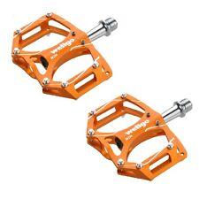 "Wellgo M194 Mountain MTB Bike Bicycle Cycling  9/16"" Aluminum Pedals - Orange"